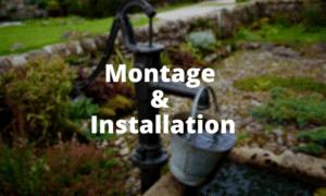 Entwässerungspumpe Montage und Installation