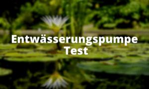Entwässerungspumpe Test