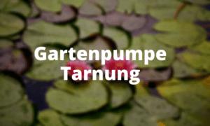 Gartenpumpe Tarnung
