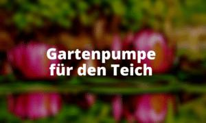 Gartenpumpe für den Teich