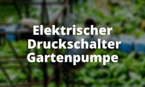 Elektrischer Druckschalter Gartenpumpe