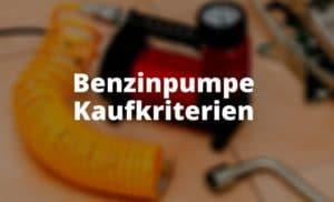 Benzinpumpe Kaufkriterien