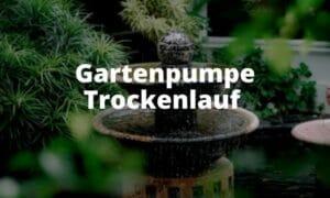 Gartenpumpe Trockenlauf