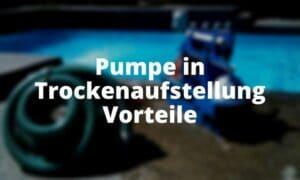 Pumpe in Trockenaufstellung Vorteile