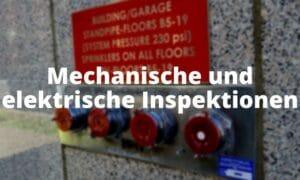 Sprinklerpumpen Mechanische und elektrische Inspektionen