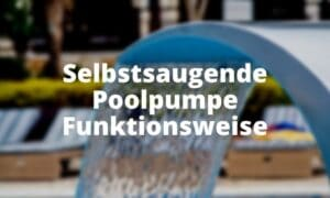 Selbstsaugende Poolpumpe Funktionsweise