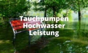Tauchpumpen Hochwasser Leistung